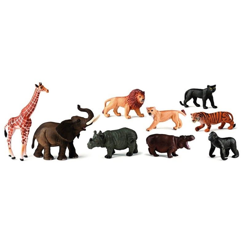 Les figurines animaux de la jungle