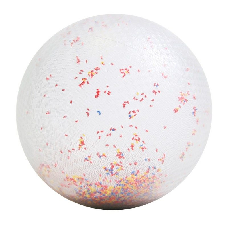 Ballon transparent confetti