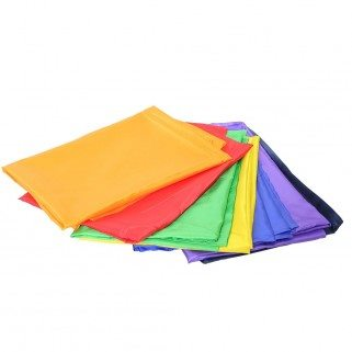 Foulards arc en ciel satin (par 7)