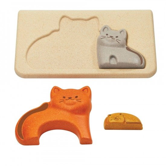 Puzzle famille chat