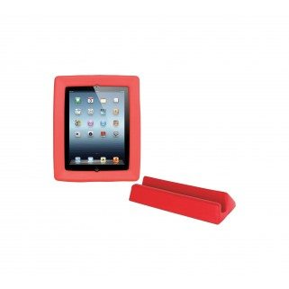 CADRE BIG GRIPS IPAD + SUPPORT - ROUGE